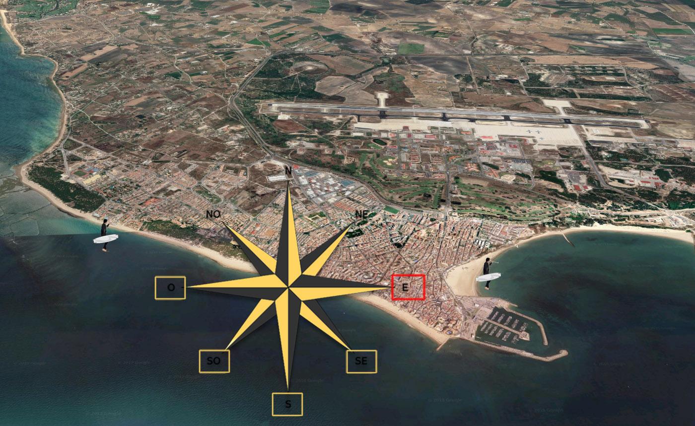 direcciones de viento navegables en Rota