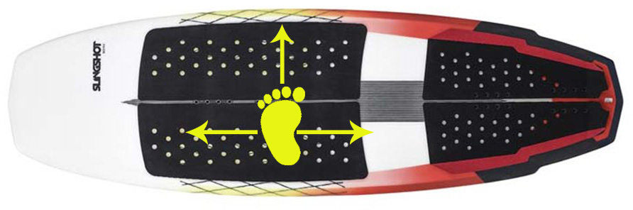 postura pie delantero strapless