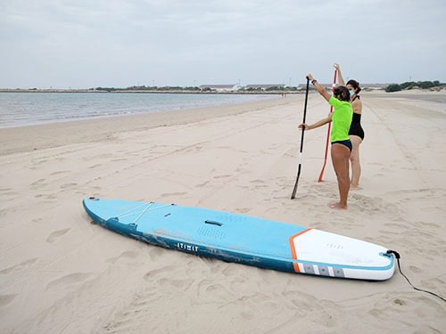que ofrecemos en el curso de paddle surf