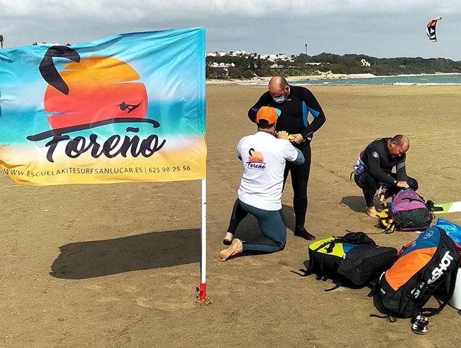 curso de kitesurf Rota en La Costilla