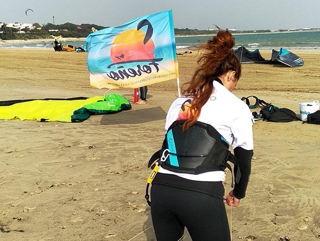 Curso de kitesurf en Rota Punta Candor