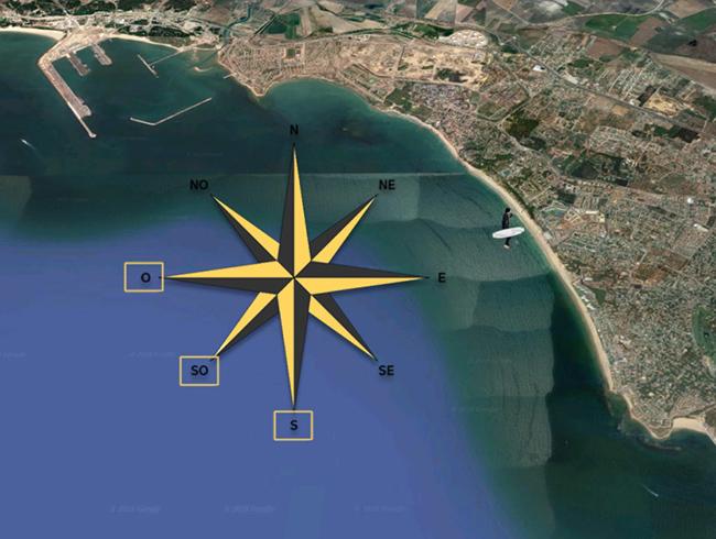 Dirección del viento en El Puerto de Santa María