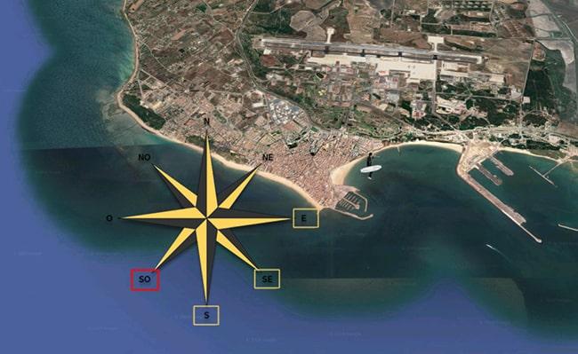 dirección del viento en el Chorrillo
