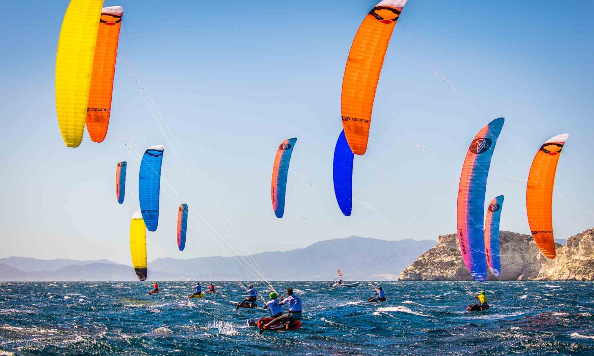 Reglas de paso en kitesurf