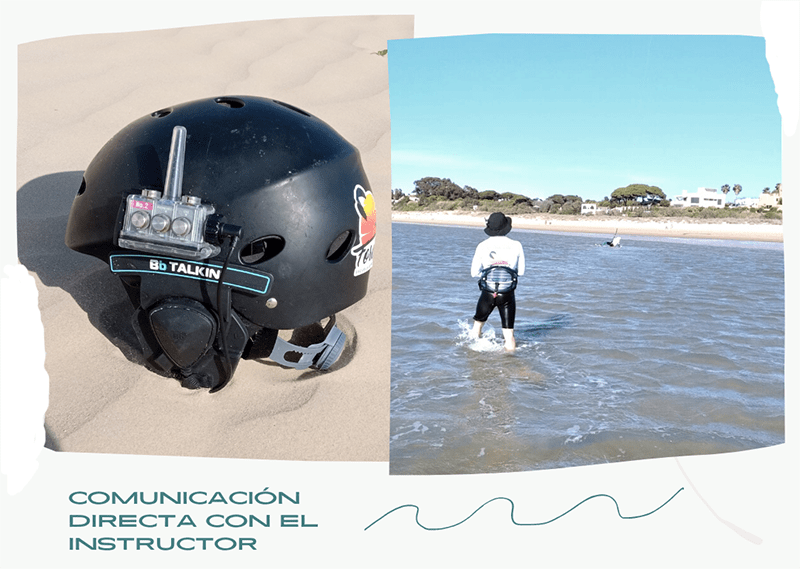 Comunicador bluetooth para los cursos de kitesurf